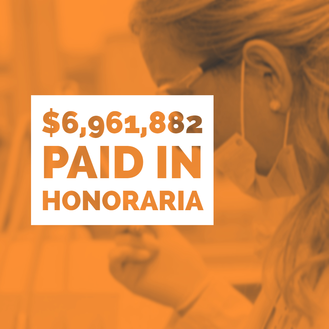 Reckner paid $6,961,882 in honoraria in 2018.